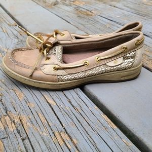 Sperry Womens Angelfish Sparkle 2 eyed boat shoe